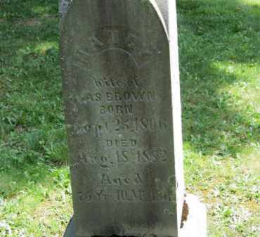 BROWN, NANCY - Lorain County, Ohio | NANCY BROWN - Ohio Gravestone Photos