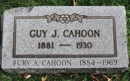 CAHOON, GUY J. - Lorain County, Ohio | GUY J. CAHOON - Ohio Gravestone Photos