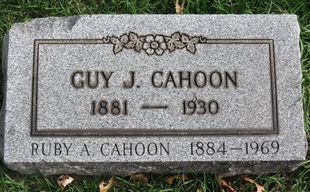 CAHOON, RUBY A. - Lorain County, Ohio | RUBY A. CAHOON - Ohio Gravestone Photos
