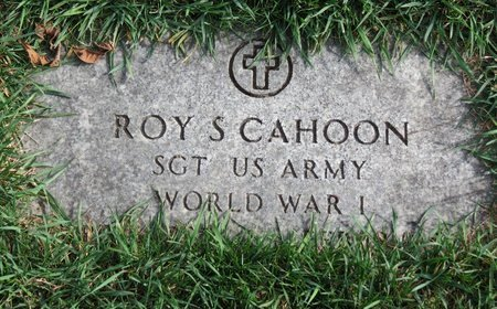 CAHOON, ROY S. - Lorain County, Ohio | ROY S. CAHOON - Ohio Gravestone Photos