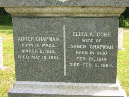CHAPMAN, ABNER - Lorain County, Ohio   ABNER CHAPMAN - Ohio Gravestone Photos