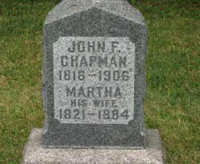 CHAPMAN, JOHN F. - Lorain County, Ohio | JOHN F. CHAPMAN - Ohio Gravestone Photos