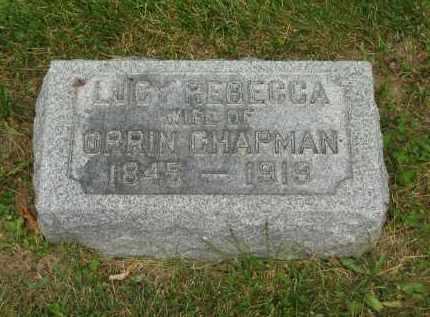 CHAPMAN, LUCY REBECCA - Lorain County, Ohio | LUCY REBECCA CHAPMAN - Ohio Gravestone Photos