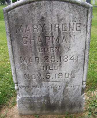 CHAPMAN, MARY IRENE - Lorain County, Ohio | MARY IRENE CHAPMAN - Ohio Gravestone Photos