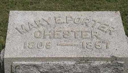 CHESTER, MARY E. - Lorain County, Ohio | MARY E. CHESTER - Ohio Gravestone Photos