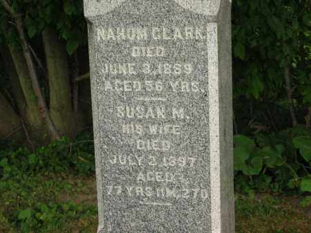 CLARK, NAHUM - Lorain County, Ohio | NAHUM CLARK - Ohio Gravestone Photos