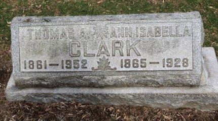 CLARK, ANN ISABELLA - Lorain County, Ohio   ANN ISABELLA CLARK - Ohio Gravestone Photos