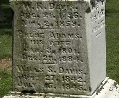 DAVIS, W.R. - Lorain County, Ohio | W.R. DAVIS - Ohio Gravestone Photos