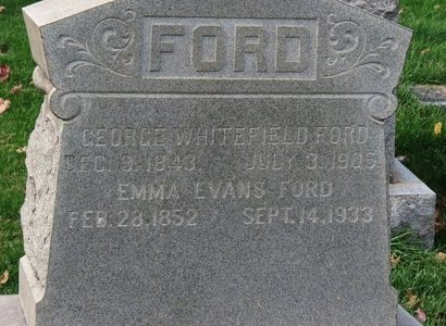 FORD, GEORGE WHITEFIELD - Lorain County, Ohio | GEORGE WHITEFIELD FORD - Ohio Gravestone Photos