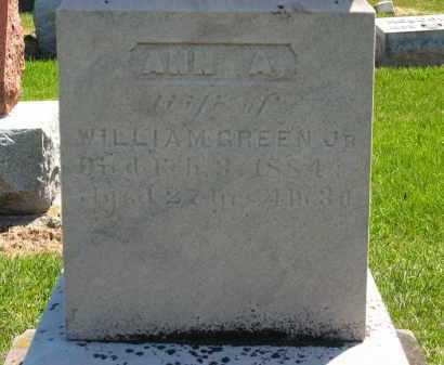 GREEN, ANN A. - Lorain County, Ohio   ANN A. GREEN - Ohio Gravestone Photos
