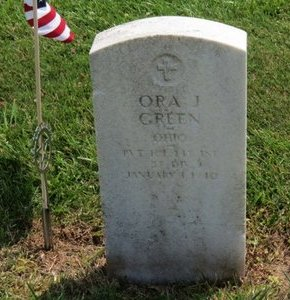 GREEN, ORA J. - Lorain County, Ohio | ORA J. GREEN - Ohio Gravestone Photos