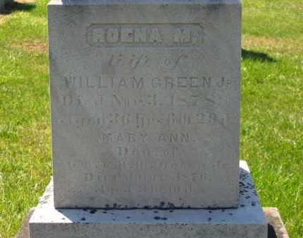 GREEN, MARY ANN - Lorain County, Ohio | MARY ANN GREEN - Ohio Gravestone Photos