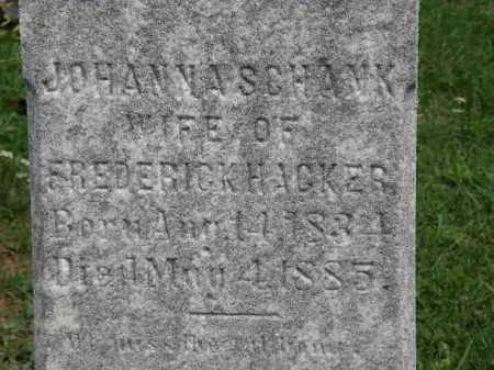 SCHANK HACKER, JOHANNA - Lorain County, Ohio | JOHANNA SCHANK HACKER - Ohio Gravestone Photos