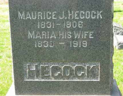 HECOCK, MARIA - Lorain County, Ohio | MARIA HECOCK - Ohio Gravestone Photos