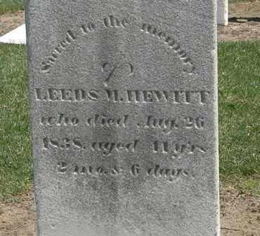HEWITT, LEEDS M. - Lorain County, Ohio | LEEDS M. HEWITT - Ohio Gravestone Photos