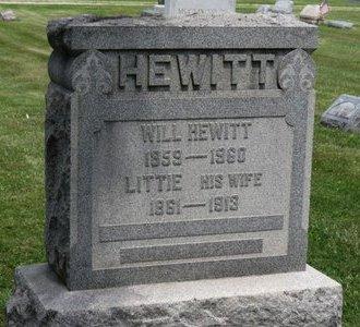 HEWITT, LITTIE - Lorain County, Ohio | LITTIE HEWITT - Ohio Gravestone Photos
