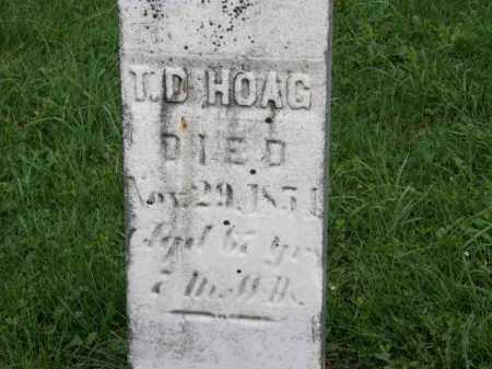 HOAG, T.D. - Lorain County, Ohio   T.D. HOAG - Ohio Gravestone Photos