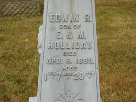 HOLLIDAY, EDWIN R. - Lorain County, Ohio   EDWIN R. HOLLIDAY - Ohio Gravestone Photos