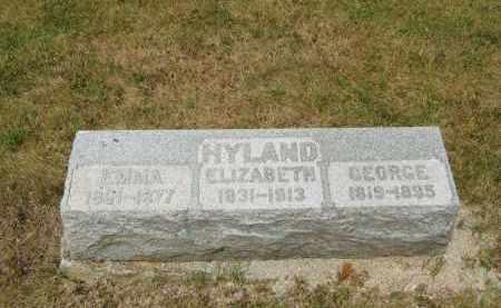 HYLAND, ELIZABETH - Lorain County, Ohio | ELIZABETH HYLAND - Ohio Gravestone Photos