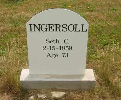 INGERSOLL, SETH C. - Lorain County, Ohio   SETH C. INGERSOLL - Ohio Gravestone Photos