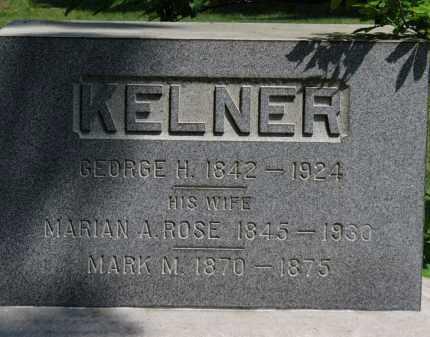 KELNER, GEORGE H. - Lorain County, Ohio | GEORGE H. KELNER - Ohio Gravestone Photos
