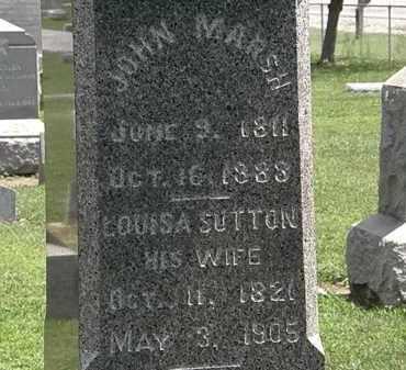 MARSH, LOUISA - Lorain County, Ohio | LOUISA MARSH - Ohio Gravestone Photos