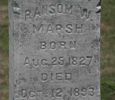 MARSH, RANSOM W. - Lorain County, Ohio | RANSOM W. MARSH - Ohio Gravestone Photos