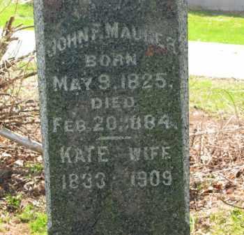 MAURER, JOHN P. - Lorain County, Ohio | JOHN P. MAURER - Ohio Gravestone Photos