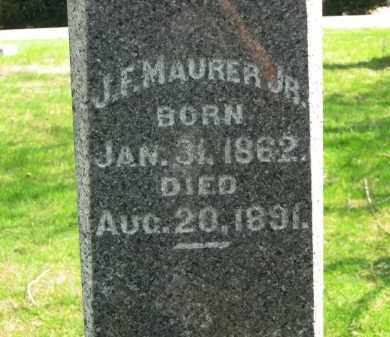 MAURER, JR,, J. E. - Lorain County, Ohio | J. E. MAURER, JR, - Ohio Gravestone Photos