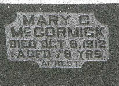MCCORMICK, MARY C. - Lorain County, Ohio | MARY C. MCCORMICK - Ohio Gravestone Photos