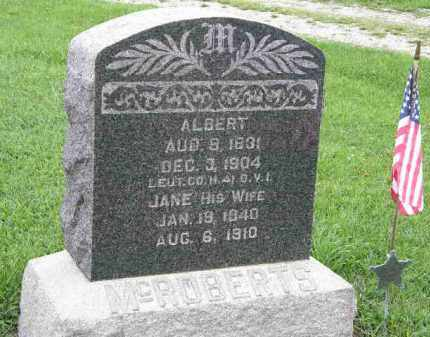MCROBERTS, JANE - Lorain County, Ohio | JANE MCROBERTS - Ohio Gravestone Photos