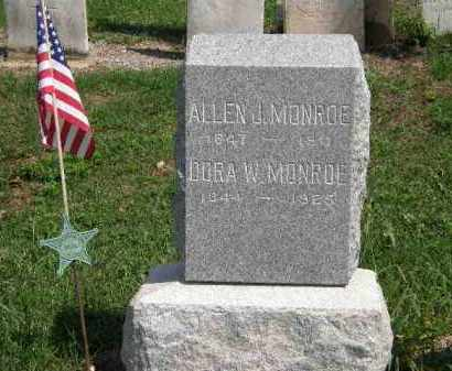 MONROE, ALLEN - Lorain County, Ohio | ALLEN MONROE - Ohio Gravestone Photos