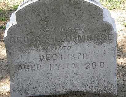 MORSE, E. J. - Lorain County, Ohio | E. J. MORSE - Ohio Gravestone Photos
