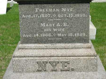 NYE, MARY A. B. - Lorain County, Ohio | MARY A. B. NYE - Ohio Gravestone Photos