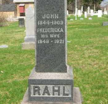 RAHL, JOHN - Lorain County, Ohio | JOHN RAHL - Ohio Gravestone Photos