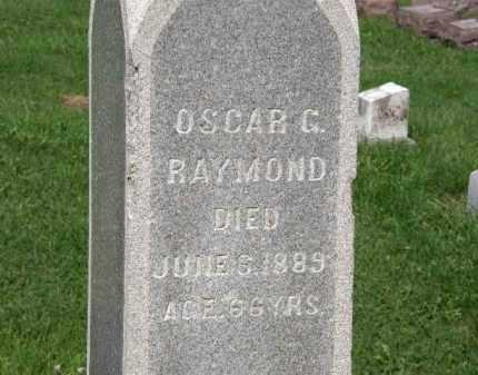 RAYMOND, OSCAR G. - Lorain County, Ohio   OSCAR G. RAYMOND - Ohio Gravestone Photos