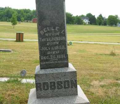 ROBSON, BELLE I - Lorain County, Ohio | BELLE I ROBSON - Ohio Gravestone Photos