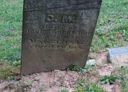 ROCKWOOD, C.M. - Lorain County, Ohio | C.M. ROCKWOOD - Ohio Gravestone Photos