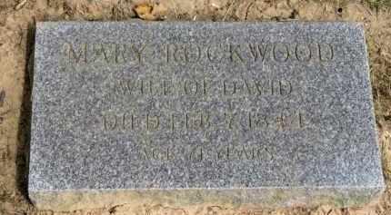 ROCKWOOD, MARY - Lorain County, Ohio   MARY ROCKWOOD - Ohio Gravestone Photos