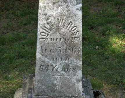 ROSE, JOHN W. - Lorain County, Ohio | JOHN W. ROSE - Ohio Gravestone Photos