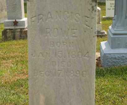 ROWE, FRANCIS E - Lorain County, Ohio   FRANCIS E ROWE - Ohio Gravestone Photos