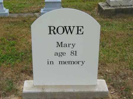 ROWE, MARY - Lorain County, Ohio   MARY ROWE - Ohio Gravestone Photos