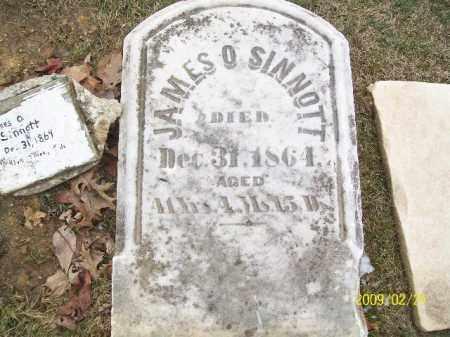 SINNOTT, JAMES O - Lorain County, Ohio | JAMES O SINNOTT - Ohio Gravestone Photos