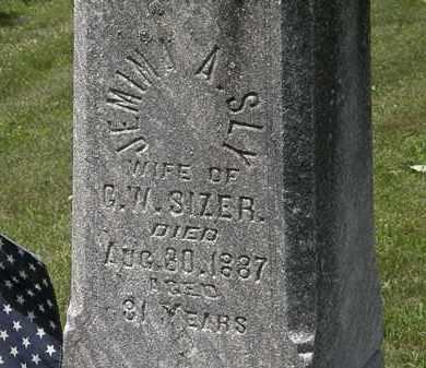 SIZER, JEMIMA A. - Lorain County, Ohio | JEMIMA A. SIZER - Ohio Gravestone Photos