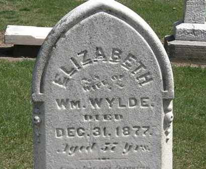 WYLDE, ELIZABETH - Lorain County, Ohio | ELIZABETH WYLDE - Ohio Gravestone Photos
