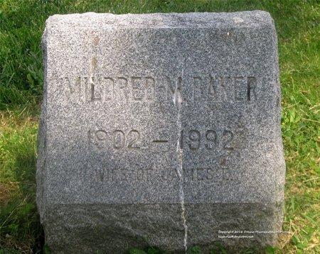 BAKER, MILDRED M. - Lucas County, Ohio | MILDRED M. BAKER - Ohio Gravestone Photos