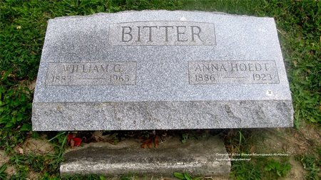 BITTER, ANNA - Lucas County, Ohio | ANNA BITTER - Ohio Gravestone Photos