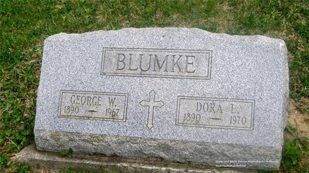 BLUMKE, DORA L. - Lucas County, Ohio | DORA L. BLUMKE - Ohio Gravestone Photos