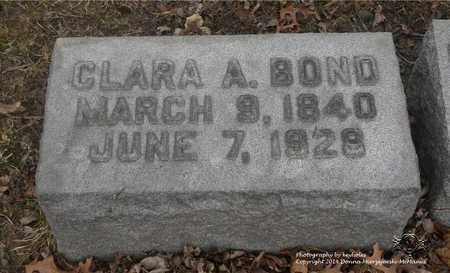 BOND, CLARA A. - Lucas County, Ohio | CLARA A. BOND - Ohio Gravestone Photos