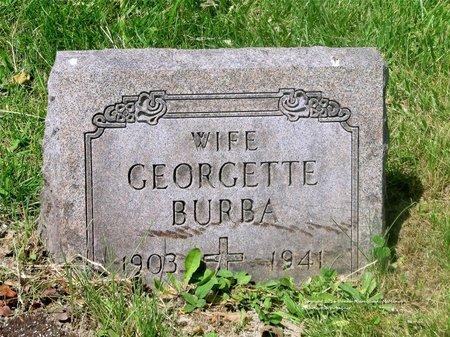 LEFEVRE BURBA, GEORGETTE - Lucas County, Ohio | GEORGETTE LEFEVRE BURBA - Ohio Gravestone Photos